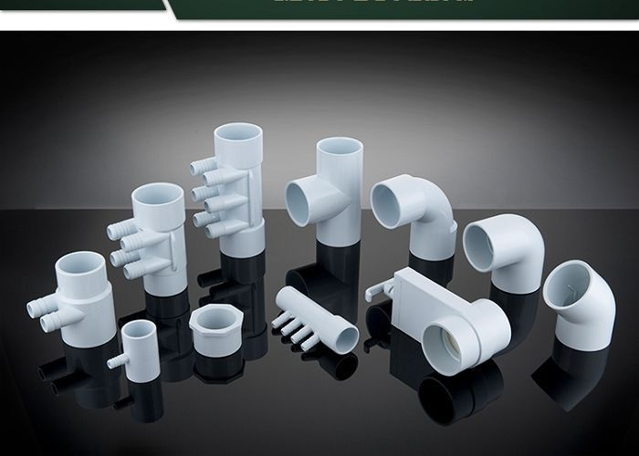 PVC Plumbing Parts Plastic Water Distribution Manifold , Tee , Elbow For Connecting